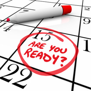 Are You Ready Calendar Day Date Circled